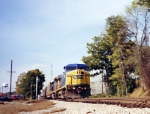 CSX 9004 with northbound autorack at Winder
