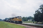 UP 4342 leads Southbound freight through just south of Statham