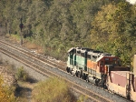 BNSF  stack train on the B&OCT 51st int