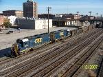 CSX 6350 leads train M719