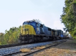 CSX 4512 flys north with a stack train