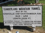 Sign About the Cumberland Mountain Tunnel