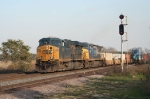 CSX 5326 pulls the world's longest westbound stack train