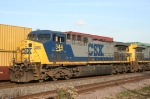 CSX 344 passes he world's longest eastbound stack train