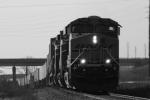 Black and White BNSF Train.
