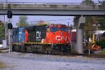 Train with CN power comes of the original W&LE from Toledo and goes north