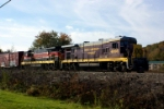 Ohio Central 4093 pauses at Newcomerstown