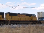 UP 4309 #2 power in a WB doublestack at 11:30am