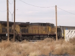UP 7006 #3 power in a WB coal train into El Paso at 1:10pm