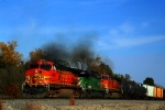 Here's the lead of the train, BNSF C44-9W 4688, SD40-2 8063, and C40-8W 809.