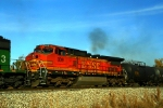 Here's trailikng unit BNSF C40-8W 809