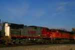 The Warbonnet remains on BNSF C44-9W 718 as it, and sister 4435, are trailing units on an eastbound. 