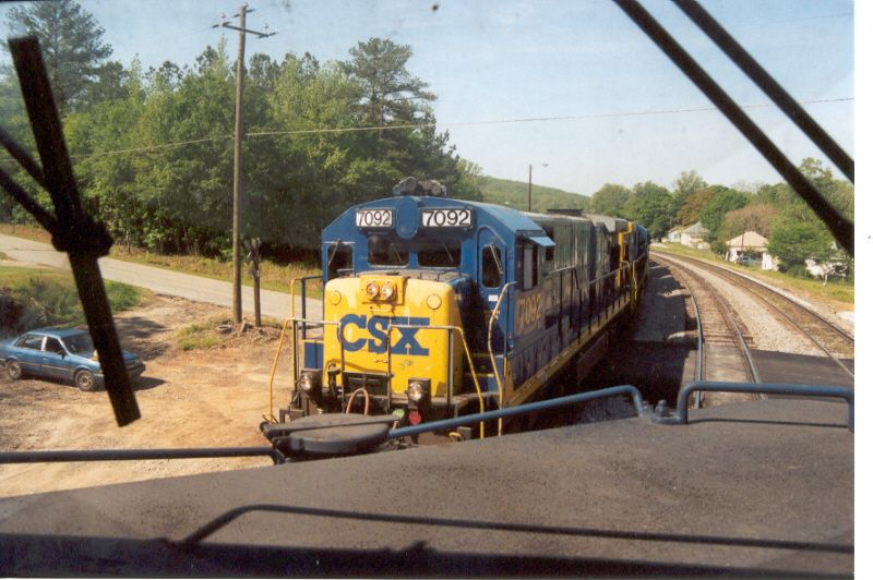 I was invited aboard a CSX CW44-8 and shot this view of 7092