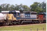 CSX 8000 helps a northbound freight