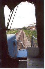 A engineer's view from an CSX ex-CR SD40-2 at Center St.