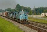 ex-Conrail Dash 8s lead NS 154 in Buford