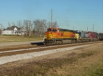 BNSF4818 leads CSX train at Harper siding