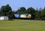 Hartwell freight past field between Royston and Canon