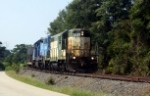 Ex-CNW 4556 leading ex-CSX/CR1973
