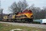 KCS Locos take CSX Military Train W858 North