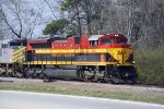 KCS 4025 Leads CSX W858 at the north end of Harper Siding