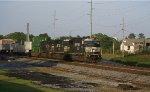 NS213 with an ex-Conrail consist leaves Buford behind