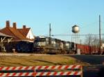 NS Train WB Past Winder Georgia depot