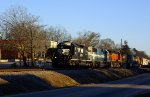 NS Grain Shuttle train leaving Maysville Georgia