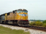 UP led CSX train Passing Winder Barrow Airport