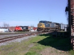 CSX 7693 with brand new hoppers from HOG yard