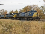 CSX 7756 leading an autorack train