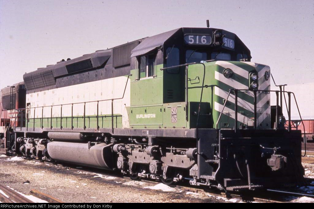 CB&Q 516 SD45