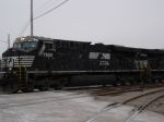 NS ES40DC flies by in the snow