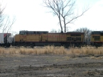 UP 5768 Is #4 And Last Unit On Stopped WB Coal Empties