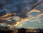 sunrise over the yard