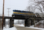 ICE 4209 passing over the Philhower Road bridge