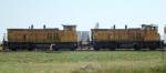 UPY 1316 & 1323 working the Landmark Co-op loop track