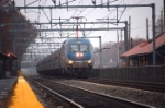 An Amtrak regional by Attleboro