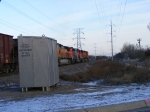 BNSF 5497 and IC 6108