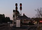 The old Seaboard era signals still stand guard outside the station.. for now