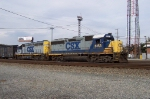 CSX 6153 with some grafitti. Note the battery box