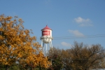 The old water tower in Frisco TX
