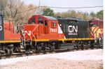 This CN unit displays the railroads web address.