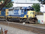 CSX 6224 leads 6245 and a short pick up freight