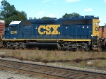 CSX 6245 is the second unit on a short pick up freight