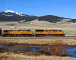 UP 5210 heads towards the Continental Divide at Deer Lodge Pass