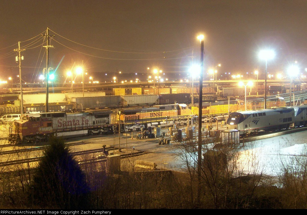 Argentine Yard Mainline Fuel Pad With Amtrak and BNSF Power