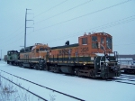 Tied Down BNSF/NARS Locomotives