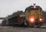 Southbound Empty Ballast Train