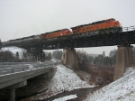 Southbound BNSF Loaded Coal Train DPU's and Helpers